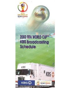 2002 World Cup KBS Broadcasting Schedule