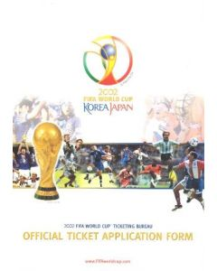 2002 World Cup Korea Japan Official Ticket Application Form