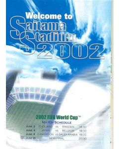 2002 World Cup Welcome To Saitama Stadium guide