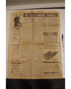 A page of The Weekly Herald newspaper of 12/02/1961 covering Tottenham Hotspur v Leicester City