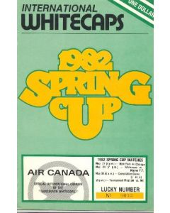 1982 International Whitecaps Canada Spring Cup Matches