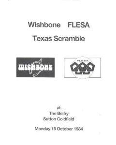 1984 Wishbone FLESA Texas Scremble official programme 15/10/1984