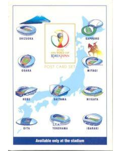2002 World Cup Official Japanese Stadium Postcard Set