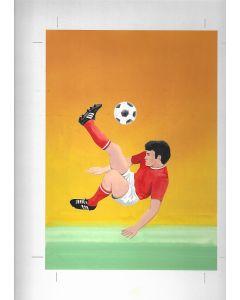 World Cup 1982 Original Artwork for Match Box Labels. No 2 of 10