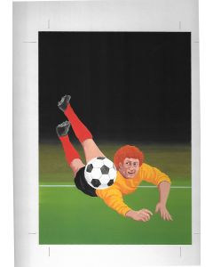 World Cup 1982 Original Artwork for Match Box Labels. No 3 of 10. Gouache on Board.