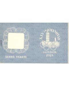 1948 XIVth Olympiad London Series Tickets wallet
