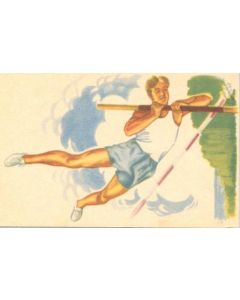 1952 15th Olympic Games in Helsinki, Finland colour postcard