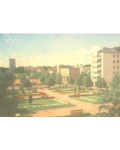 1952 15th Olympic Games in Helsinki, Finland colour postcard, featuring The Park of the Children's Castle