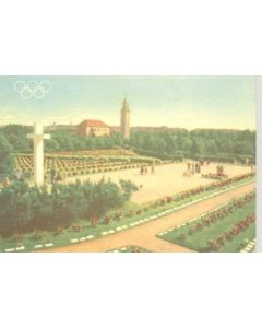 1952 15th Olympic Games in Helsinki, Finland colour postcard, featuring the The Cementary of War Heroes
