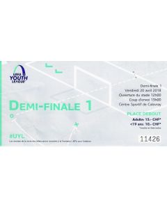 2018 UEFA Youth League Semi Final Ticket - Chelsea v Porto in good condition.